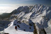 Reaching the summit of Strbsky stit