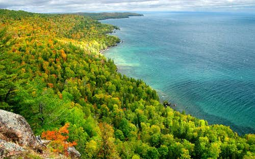 Fall view from Bare Bluff