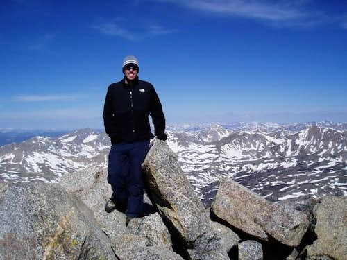 That\'s me on the summit of...