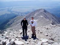 Brent and I at the summit of...