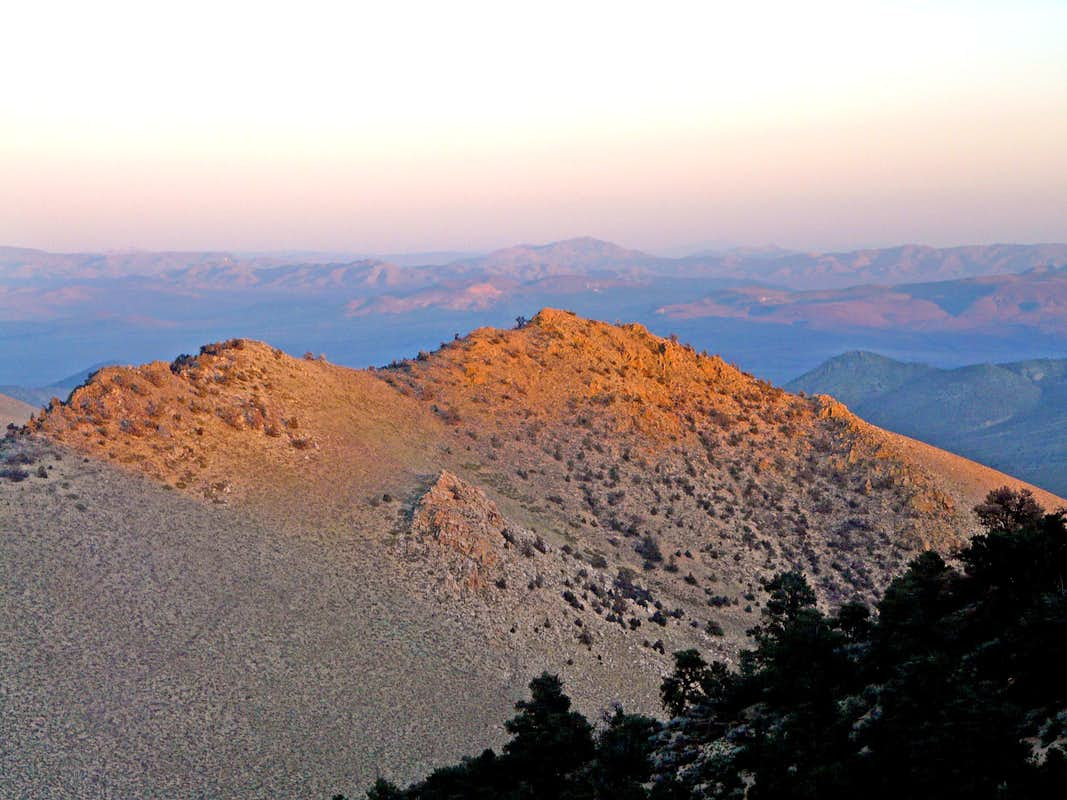 Sunset on unnamed ridge from Proposal Peak