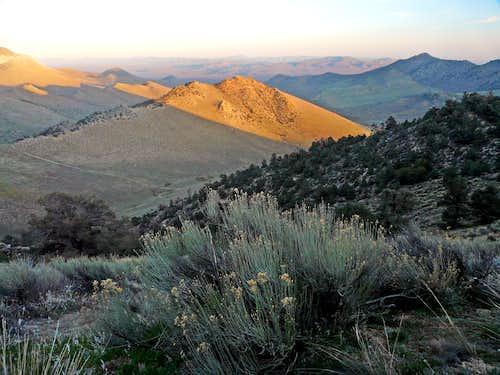 Last light on unnamed ridge