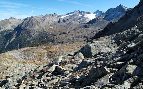 The Tischlergruppe peaks (highest one: the Tischlerkarkopf with 3004 metres)