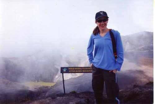 At the summit of Volcan Irazu.