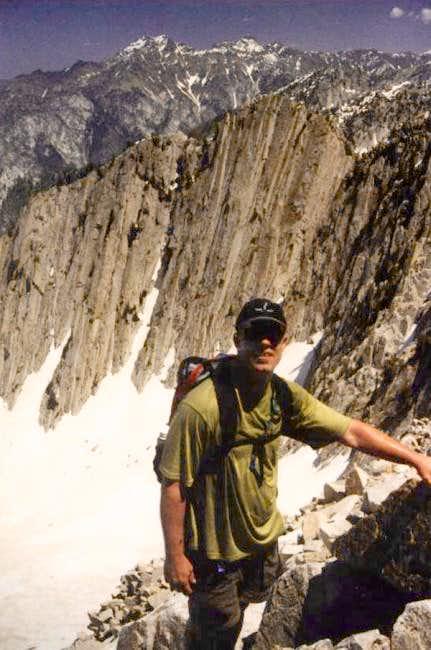 June 2003 - Larry climbing...