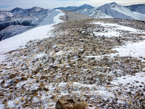 South along the summit ridge