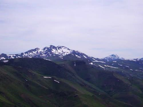 Granite Peak from the north,...