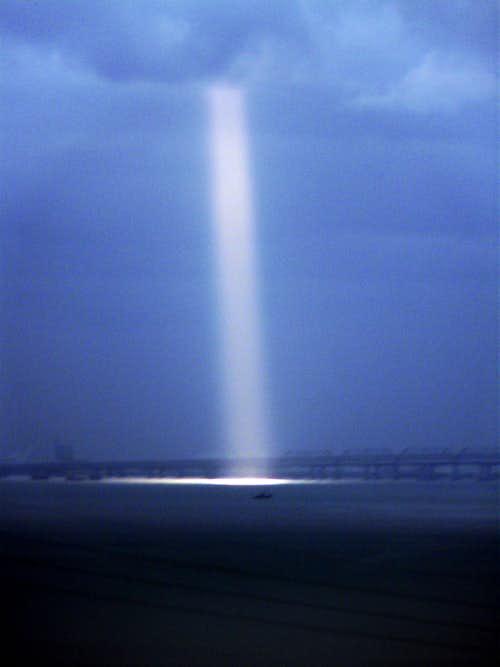 Shaft of light over San Francisco Bay