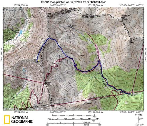 Winter Route Map, Bobtail Benchmark