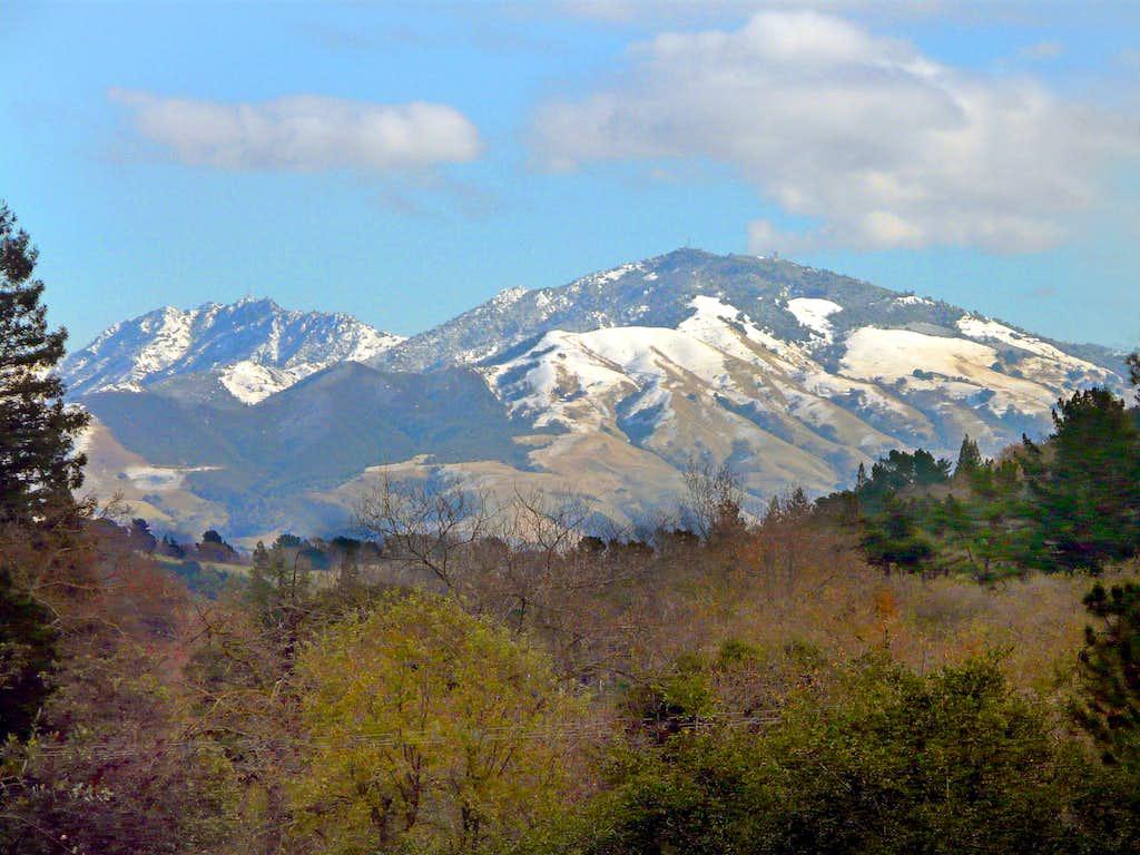 Snowy Mt. Diablo from Lafayette Reservoir