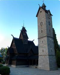 The Wang norvegian church in Karpacz