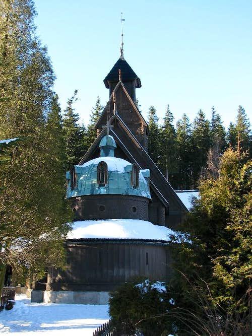 The Wang norvegian church in Karpacz