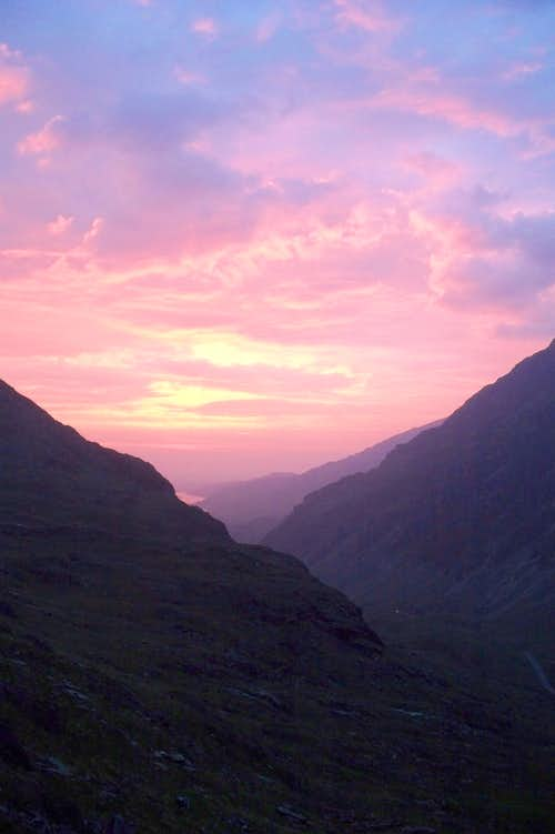 Last Light from Llanberis pass