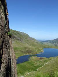 High on Suicide Wall, Cwm Idwal