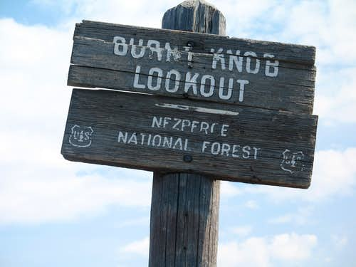 Old Lookout Sign
