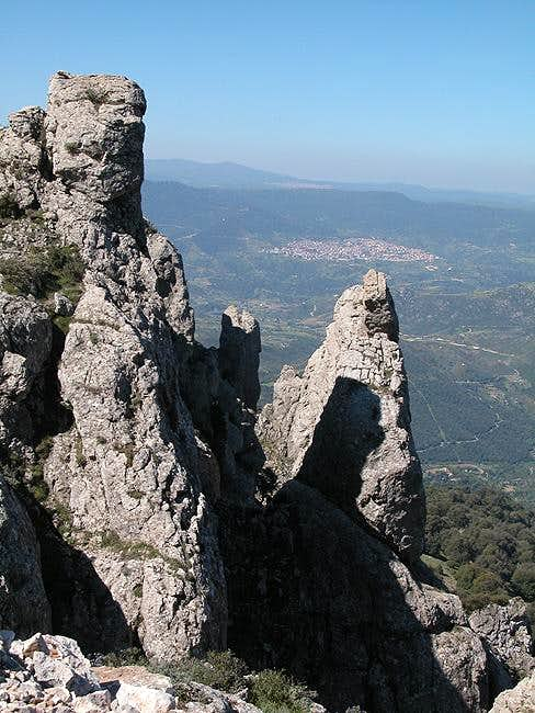 Towers in the Monte Corrasi...