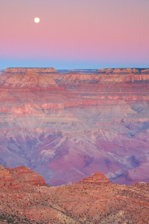 Grand Canyon Moonset (1 of 3)