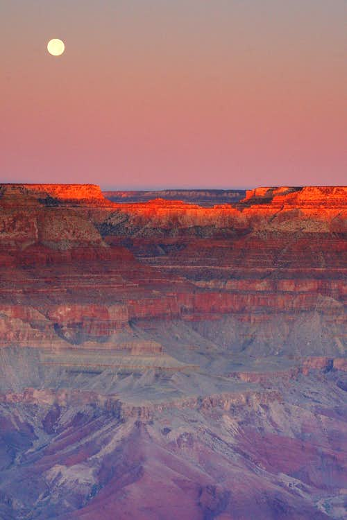 Grand Canyon Moonset (2 of 3)