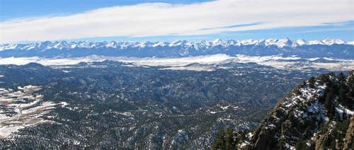 Sangres Panorama from Curley Peak