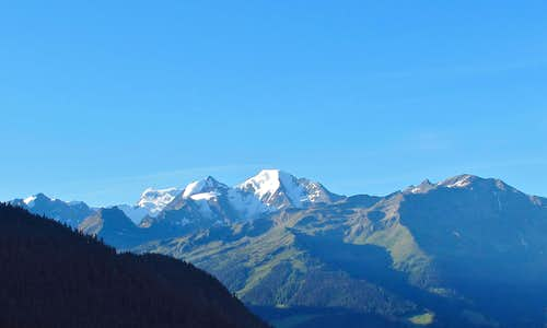 The Grand Combin and the Petit Combin in the early morning light
