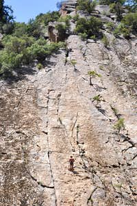 Climber at the first belay