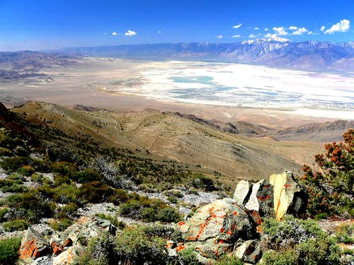 Owens Lake from Inyo crest