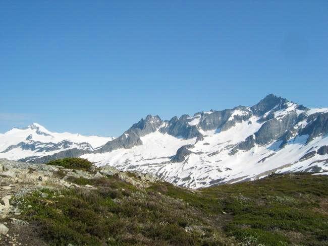 Eldorado Peak (left) and...