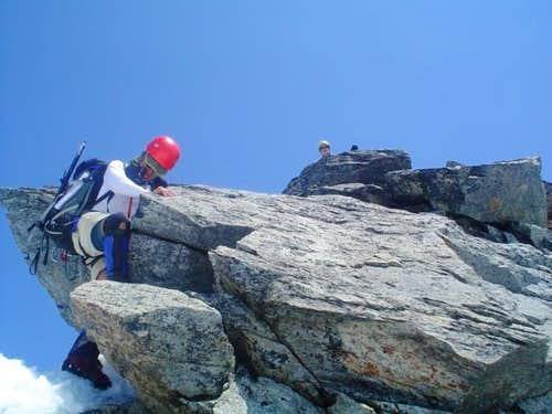 Scrambling up the summit...