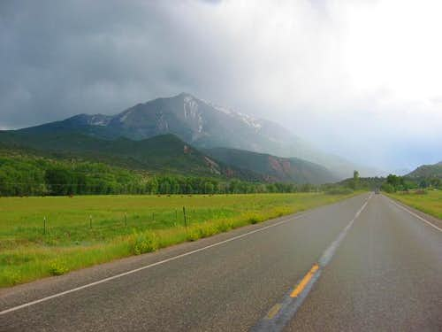 Mt Sopris as seen from HWY...