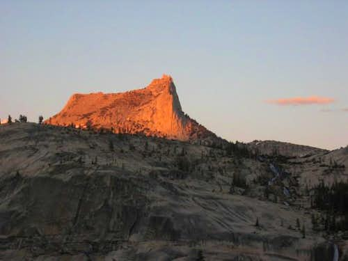 Cathedral Peak in alpenglow...