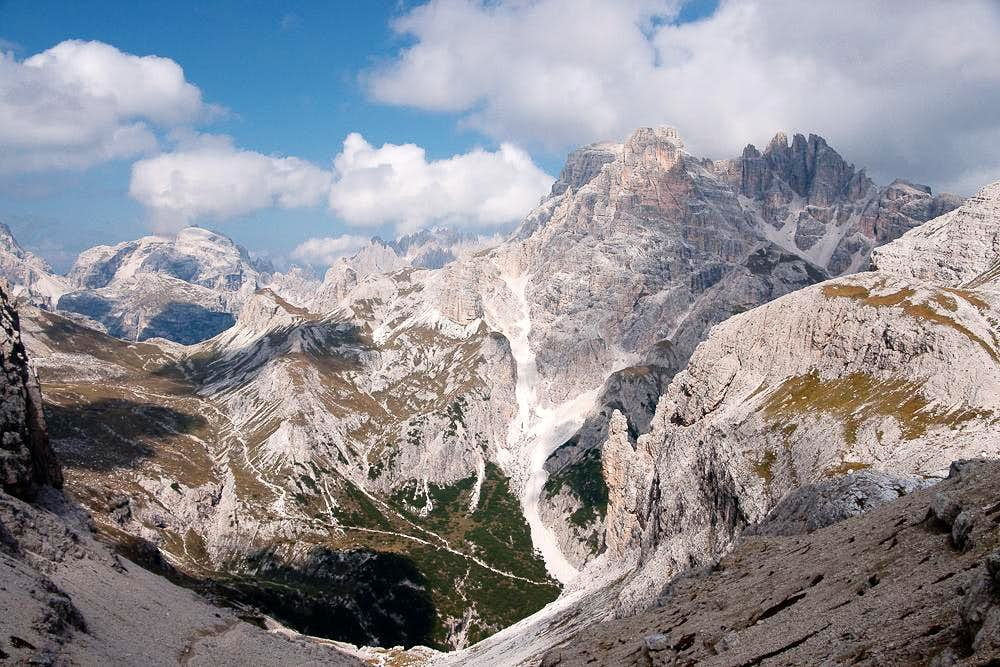 The northern Sexten / Sesto Dolomites