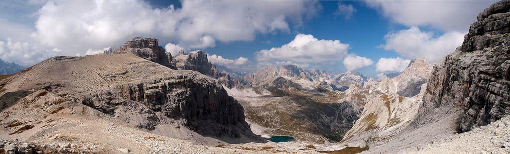 The northern Sexten / Sesto Dolomites