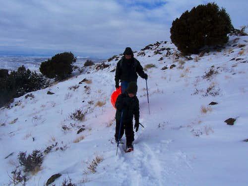 Climbing Cedar Mountain