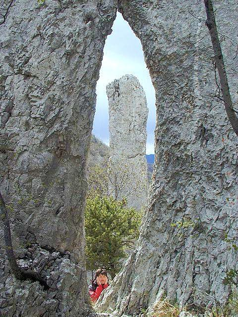 A natural window in Vranjska...