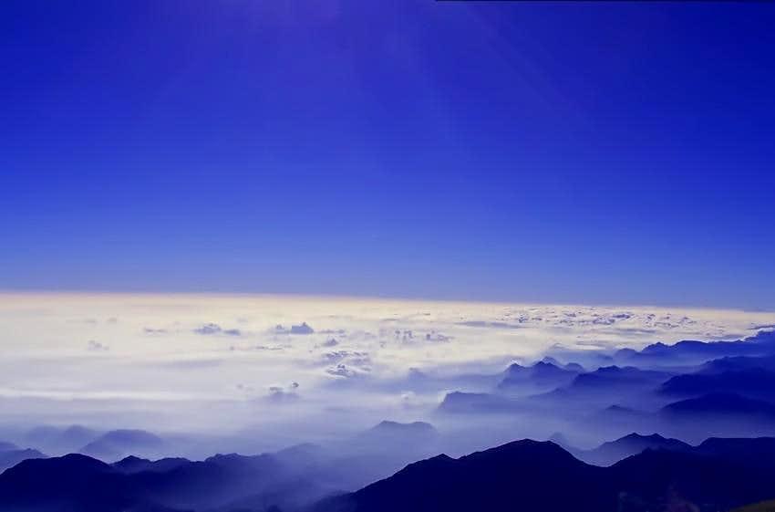 Pico de Orizaba, view from top