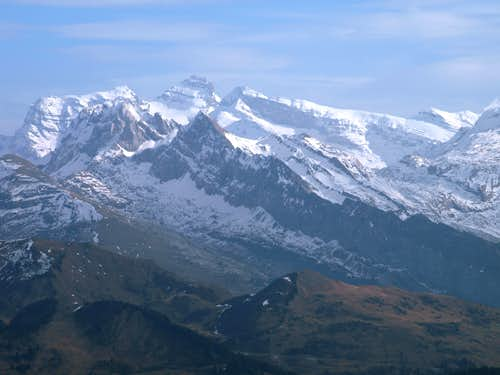 View from Pointe De Marcelly, 1,999m.
