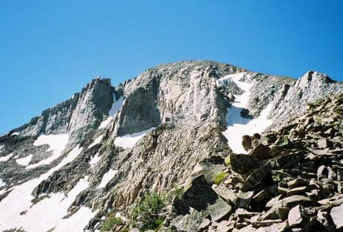 North face of Lone Cone from...
