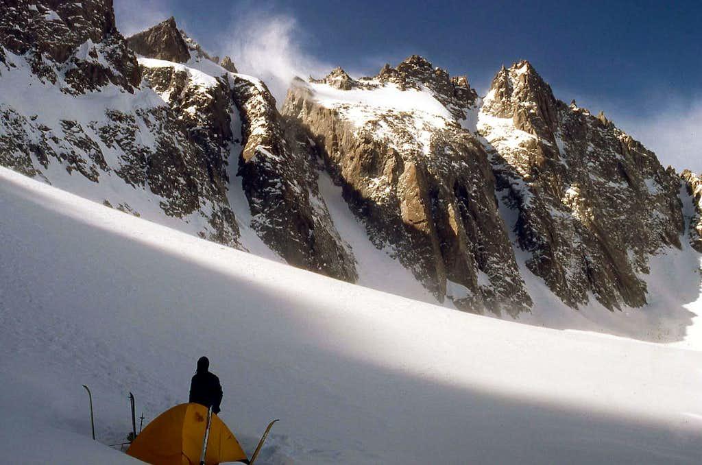Palisades Glacier in the winter