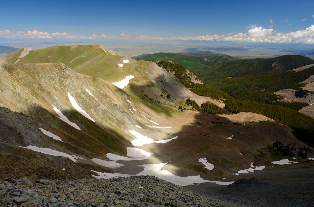 Venado Peak: Summit View North