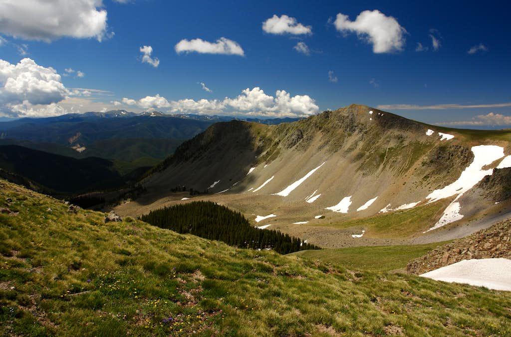 Latir Peak Massif, View South