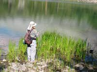 Little Lakes Valley Fisherman
