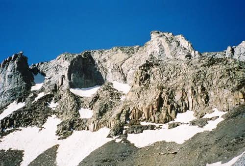 North face of Lone Cone