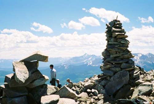 Lone Cone summit (looking west)