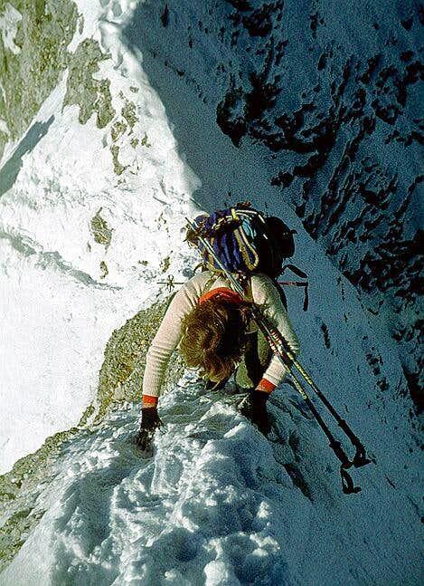 Zugspitze Jubiläums ridge in...