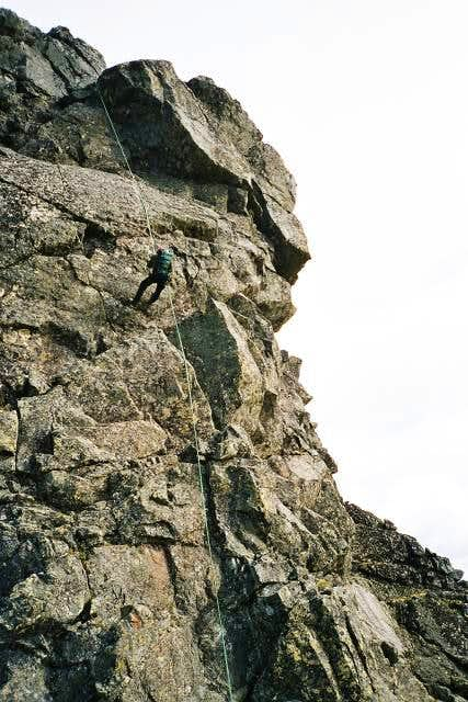 First rappel from Central...