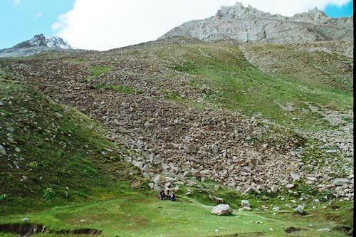 One of the Yatmuru camp site at Hisper Glacier