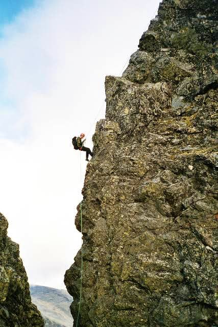 My brother in the 3rd rappel...