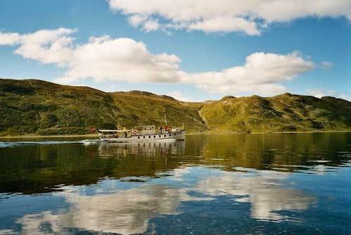 The boat on Lake Bygdin