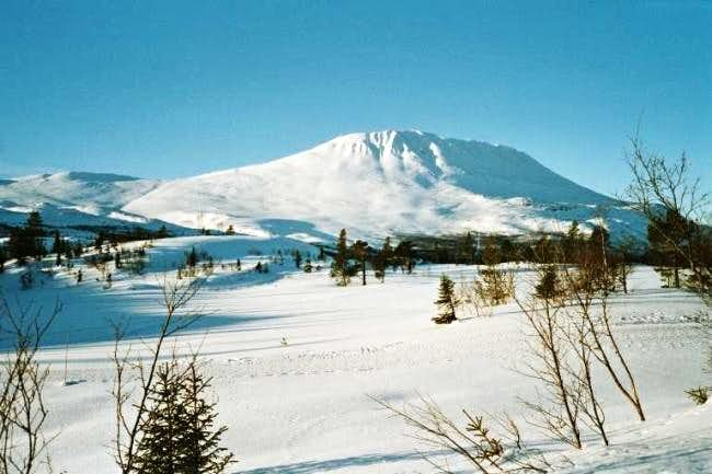 The summit seen from...