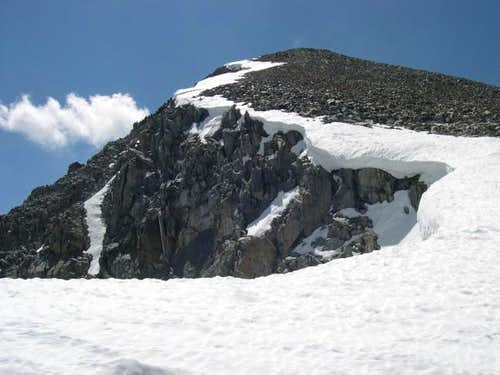 Looking up the NW Ridge...